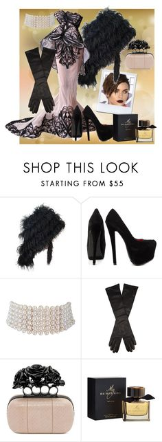 """""""Treat Yourself to Something Nice"""" by the-walking-doctor ❤ liked on Polyvore featuring Shoe Republic LA, Marina J., Giuliano Fujiwara, Alexander McQueen and Burberry"""
