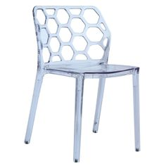 Purchase Fine Mod Imports Honeycomb Dining Chair, Clear from Fine Mod Imports on Dot & Bo. Contemporary Dining Chairs, Modern Contemporary, Lucite Chairs, The Chai, Acrylic Furniture, Modern Furniture Stores, Dot And Bo, Honeycomb, Side Chairs