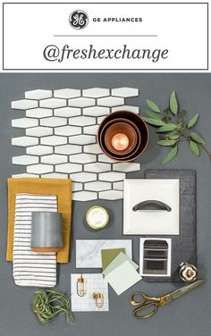 mixed natural stone textures with plant-life and clean, ceramic tile to create the ultimate airy oasis. What kind of kitchen style would you create around the versatile line of GE Slate Appliances? Kitchen Wall Colors, Kitchen Colour Schemes, Kitchen Wall Tiles, Slate Kitchen, New Kitchen, Kitchen Redo, Kitchen Remodel, Slate Appliances, Kitchen Appliances