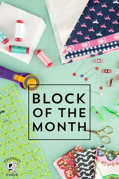 A great way to learn about patchwork! Quilt Block of the Month Series on polkadotchair.com - learn to quilt one month at a time!