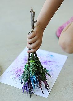 DIY  Natural Paintbrushes for Kids Art