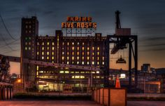 Old Farine Five Roses Sign.....a Montreal landmark