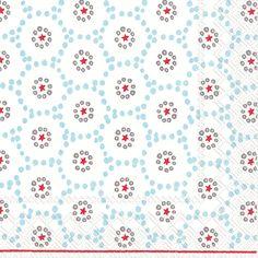 IHR Winter Dotty light blue Polka Dot Geometric Printed 3-Ply Paper Luncheon Napkins Wholesale L743349