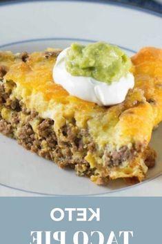 Taco Pie, Keto Taco, Taco Lasagna, Keto Foods, Tacos, Healthy Meal Prep, Healthy Snacks, Healthy Fats, Keto Meal