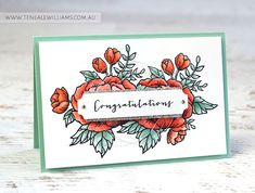 By Teneale Williams | Global Design Project #GDP028 | All Stampin' Up! Materials used. Birthday Blooms stamp set