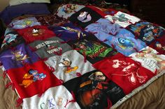 Disney Crafts How-To -- Keepsake T-shirt Blanket------BUT could do this with any kind of shirts, onesies, etc