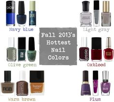 Fall 2013's nail polish trends