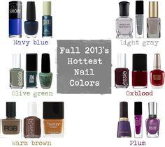 Fall 2013's nail polish trends