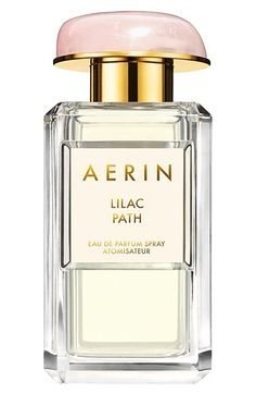 Free shipping and returns on Estée Lauder AERIN Beauty 'Lilac Path' Eau de Parfum Spray at Nordstrom.com. The delicate, crisp scent of Lilac Path eau de parfum spray by AERIN Beauty opens with rich lilac and galbanum notes.<br><br>Notes:<br>- Top: lilac, galbanum.<br>- Middle: jasmine lactones.<br>- Base: angelica seed oil, orange flower.<br><br>1.7 oz.