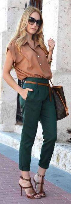 Drak Green Classic Pants