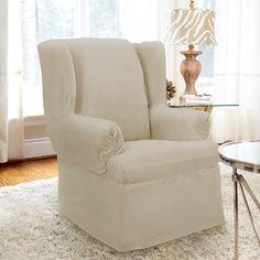 Youu0027ll Love The Twill Armchair T Cushion Slipcover At Wayfair.ca