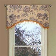 blue toile country curtains with sheers for the master bedroom