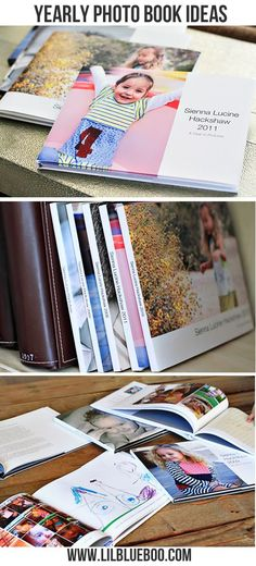 *Creative Yearly Photo Book Ideas via lilblueboo.com