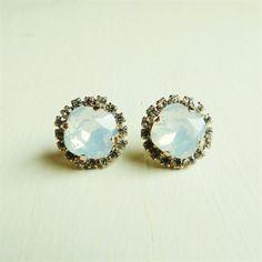 Swarovski Crystal Opal Earrings