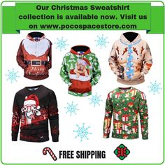 Sweaters and Jackets Cold Day, Christmas Sweaters, Merry, Collections, Free Shipping, Sweatshirts, Jackets, Fashion, Down Jackets