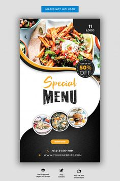 Food Graphic Design, Food Poster Design, Food Menu Design, Design Design, Restaurant Poster, Restaurant Menu Design, Restaurant Restaurant, Restaurant Identity, Food Menu Template