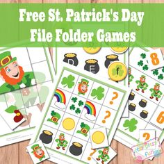 Free File Folder Games: St. Patrick's Day!