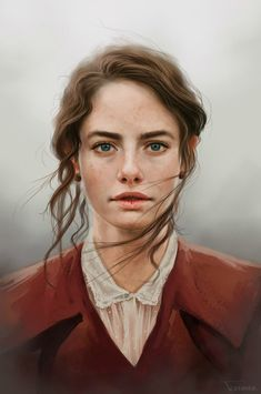 "Stunning Digital Illustrations ""Kaya Scodelario"" by Fernanda Suarez. Digital Portrait, Portrait Art, Portrait Photography, Digital Art, Painting Portraits, Woman Portrait, Kaya Scodelario, Character Inspiration, Character Art"