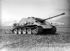 A Jagdpanther in good condition left abandoned