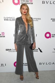 Romee Strijd attends the Elton John's AIDS Foundation Oscars 2018 Viewing Party