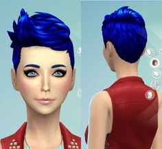 Darkiie Sims 4: 9 Non-default Hair recolors • Sims 4 Downloads