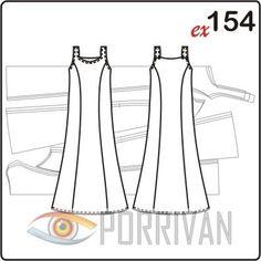 36fe5cd4e9f3ef1 Выкройка длинного летнего приталенного платья построена для кройки из  лёгких тканей. Платье немного расширен к
