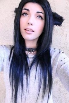 ledamonsterbunny #black hair