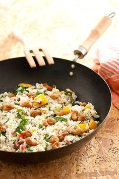 Cooking Recipes, Healthy Recipes, Healthy Food, Fried Rice, Risotto, Food And Drink, Lunch, Ethnic Recipes, Kitchen