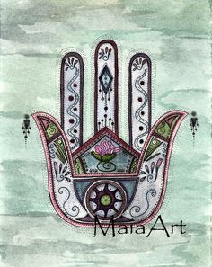 Peace within our hands - a beautiful Hamsa