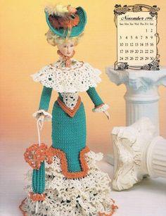 November 1996 Calendar Bed Doll Society Crochet Pattern Book Annies Attic…