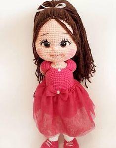 ♡Crochet toys by Klaraguru♡ Crochet Dolls Free Patterns, Crochet Doll Pattern, Doll Patterns, Love Crochet, Crochet Hats, Crochet Dragon, Crochet Bookmarks, Doll Tutorial, Christmas Knitting