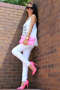 #fashion #outfit #clothes #style #cute #top #jeans #handbag #heels