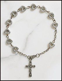 "Heart Bead Rosary Bracelet, Silver Plate 8 Mm Bead -- 7 3⁄4"" L Value Line,http://www.amazon.com/dp/B008RGLCM4/ref=cm_sw_r_pi_dp_TYwWsb1QVRE33CQF"