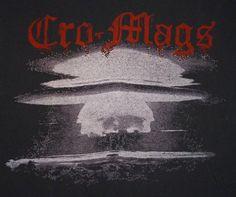 Rare original Cro-Mags tour shirt. Estimated Era 1984 - 1986.