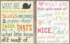 What are little girls made of ......