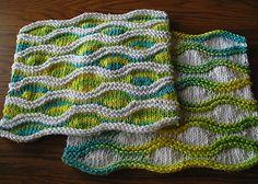 Lizard Ridge Dishcloth, free pattern on Ravelry