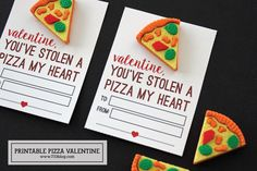 Printable Stole a Pizza My Heart Valentine - seven thirty three