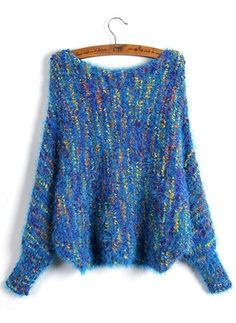Mohair Round Neckline Loose None Sweaters
