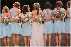 17 fotografias reais de Damas de honor em tons pastel Image: 4