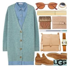 """""""The New Classics With UGG: Contest Entry"""" by foundlostme ❤ liked on Polyvore featuring MANGO, UGG, Cynthia Vincent, RetroSuperFuture, Bulgari, tarte, Gucci, AERIN, Aurélie Bidermann and shirtdress"""