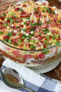 Chopped Chili Cornbread Salad.  A hearty salad with lots of crunch.