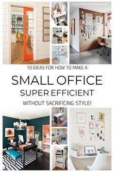 Small Office Design Ideas - 10 Ways to Make an Office Efficient - Joyful Derivatives 10 Ideas for How to Make your Small Office Super Efficient / Learn ways to make your home office or