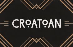 """The Art Deco """"modern"""" style of the and is full of rounded, double lined fonts that are coming back into style now. They're gorgeous and overstated, great for display and poster designs. Here's a list of 20 lovely ones. Art Deco Typography, Art Logo, Typography Design, Art Deco Logo, Art Deco Font Free, Fuente Art Deco, Fonte Free, 1920s Font, Poster Fonts"""