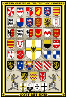 Teutonic Knights Grand Masters Poster by williammarshalstore.deviantart.com on @DeviantArt