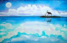 HiArt: watercolor landscape