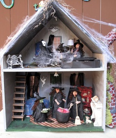 Witch haunted dollhouse