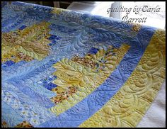 mollylogcabin by Carla's Feathered Fibers, via Flickr , I love Carlas quilting style