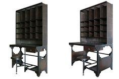 Muebles de oficina estilo industrial modelo Postman de Francisco Segarra.
