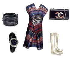 """""""Outfit Of The Day"""" by ivka-x on Polyvore featuring Kenzo, Hunter, Chanel, ABS by Allen Schwartz, Bulgari, women's clothing, women's fashion, women, female and woman"""