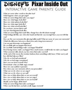 The Inside Out movie is a great way to discuss emotions with kids. Here's a game Using Disney's Inside Out Movie To Talk About Emotions {printable} Family Therapy Activities, Activities For Teens, Counseling Activities, Elementary Counseling, Career Counseling, Elementary Schools, Emotions Game, Feelings Games, Feelings And Emotions